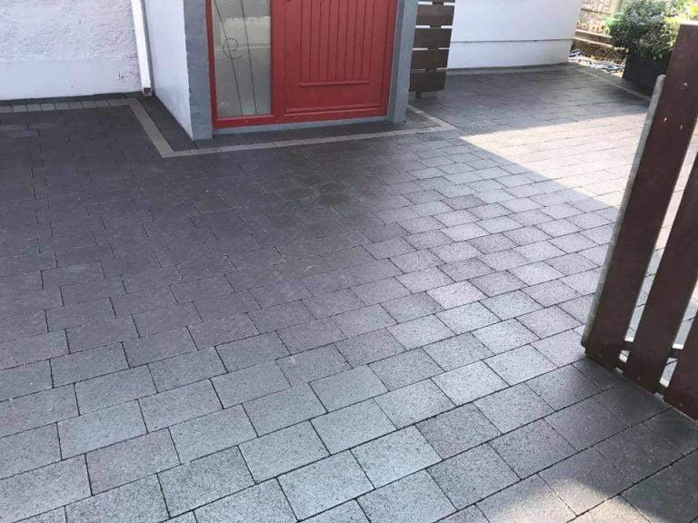 Tegula Styled Block Paving on Driveway