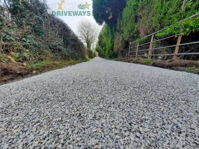 Tar and Chip Farm Road in West Cork