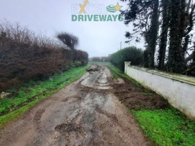 Tar and Limestone Chip Driveway in Carrigaline, Co. Cork