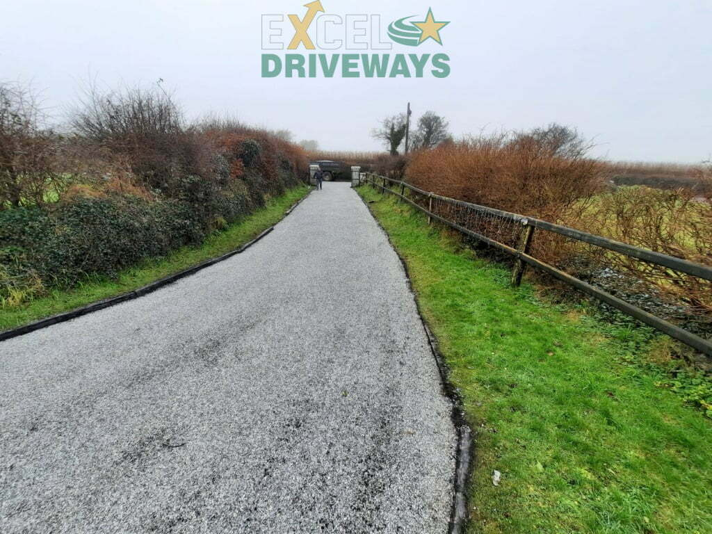 Tar and Limestone Chip Driveway in Carrigaline Co. Cork 8