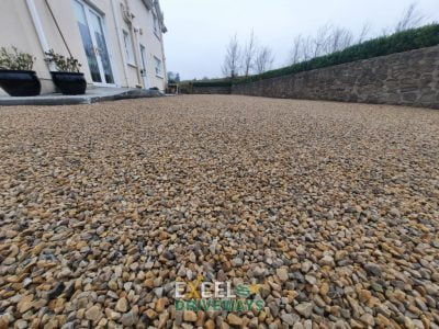 Tar and Golden Gravel Chip Driveway in Mallow, Co. Cork