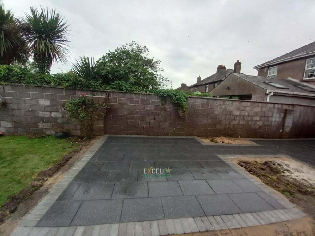 Black Granite Slabbed Patio with Paved Border in Ballinlough Cork City 7