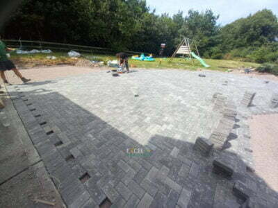 Large Block Paved Patio in Cobh, Co. Cork