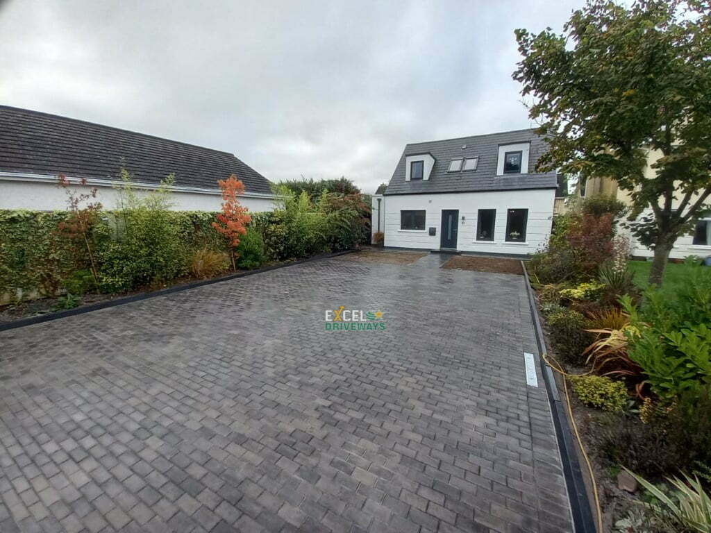 New Block Paved Driveway with Front Slabbed Patio in Ovens Co. Cork 10