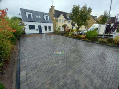 New Block Paved Driveway with Front Slabbed Patio in Ovens, Co. Cork