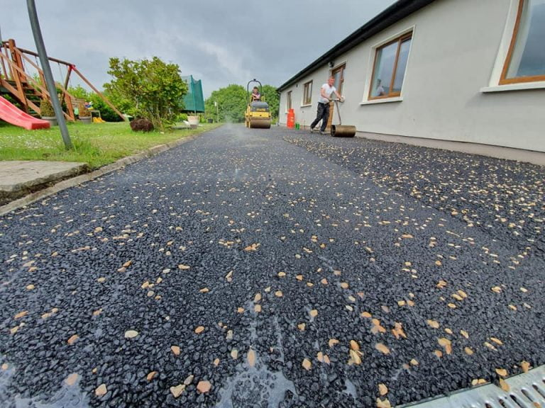 Chip Rolled into Tarmac on Driveway in Cork