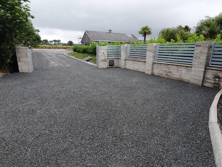 tar and chip driveway installation in Cork