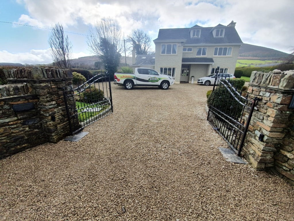 Golden Gravel Driveway with Sandstone Patio in Millstreet Co. Cork 5