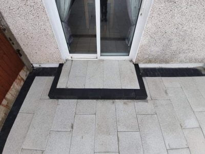 Granite Patio with Charcoal Cobbles in Cork City