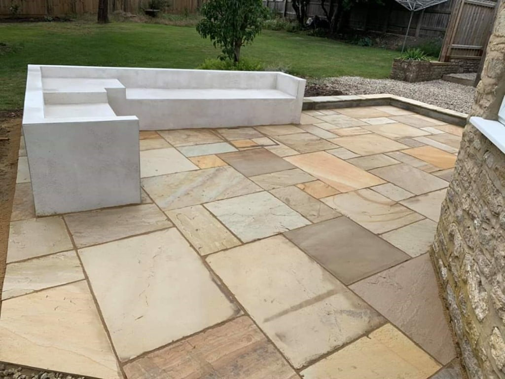 Indian Sandstone Patio with Concrete Seating Area in Cork City 5