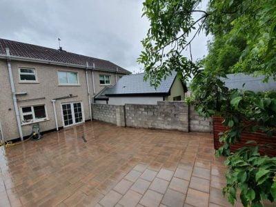 Large Back Garden Patio in Glanmire, Cork