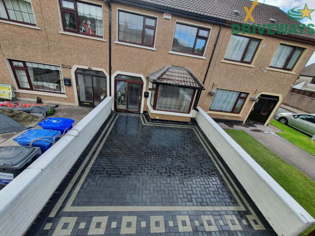 Patterned Block Paving Driveway in Cork City 4
