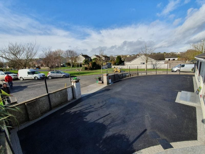 SMA Asphalt Driveway with Granite Patio in Carrigaline Co. Cork 8 1