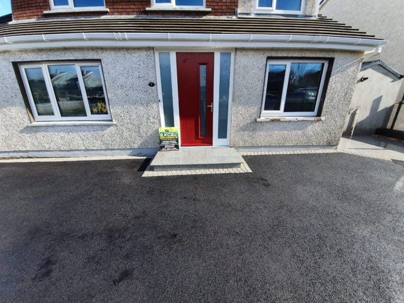 SMA Asphalt Driveway with Granite Patio in Carrigaline Co. Cork 9