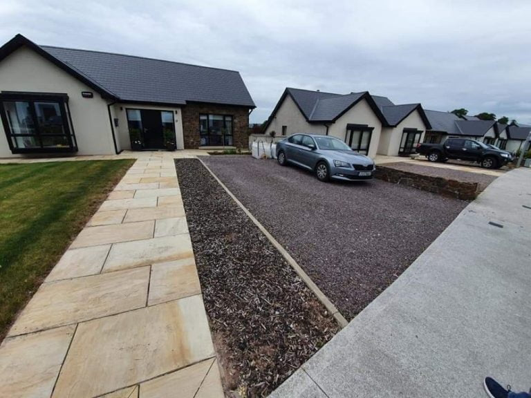 SMA Driveway with Sandstone Pathway in Douglas, Cork