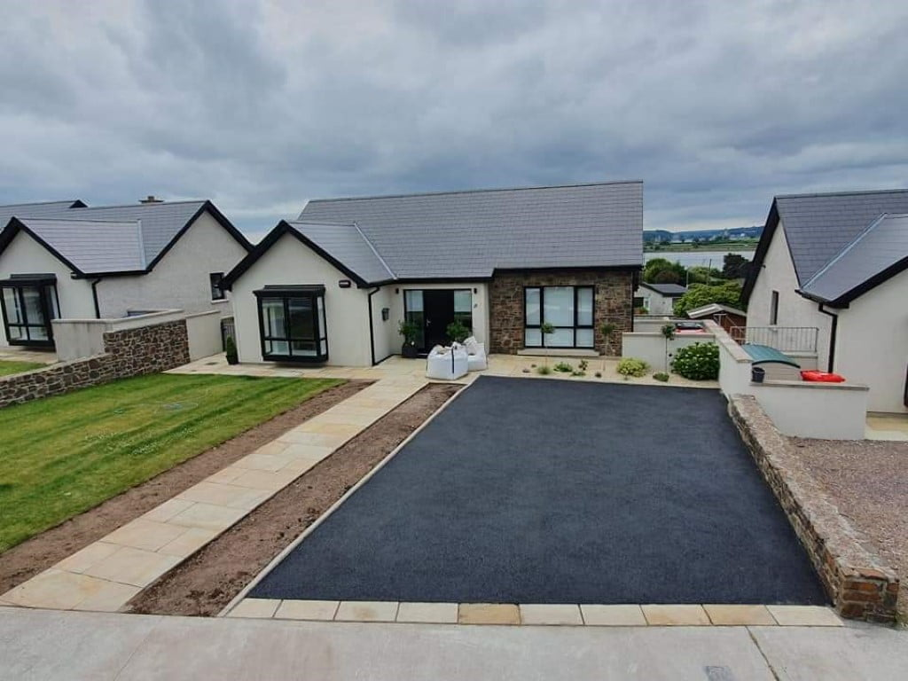 SMA Driveway with Sandstone Pathway in Douglas Cork 4