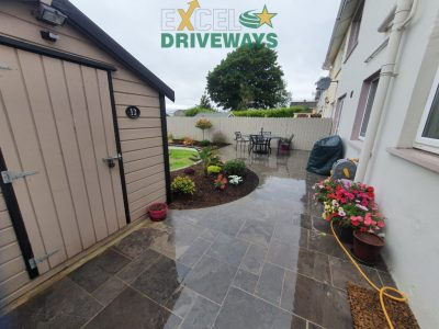 Tegula Paved Driveway and Slabbed Patio in Glanmire, Cork