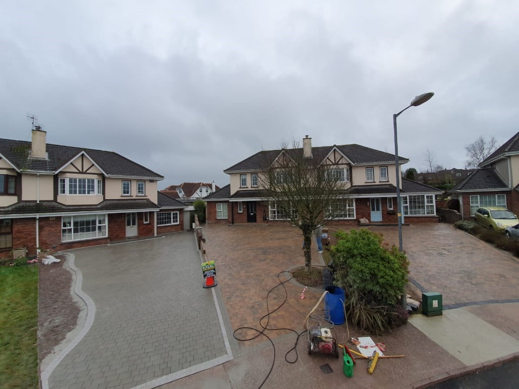 Triple Block Paving Driveway Project in Douglas all three
