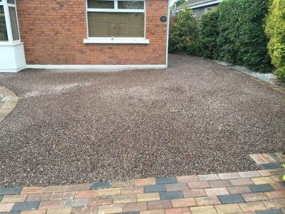 Gravel Driveway With Brick Border in Mallow