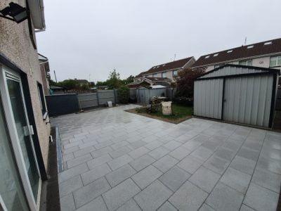 Grey Slabbed Patio Outside Bantry in West Cork