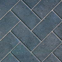 Charcoal Block Paving in Herringbone