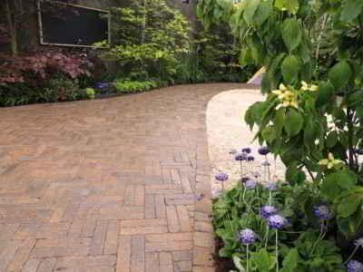 retro brick paved driveway cork 1