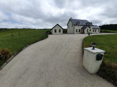 New tar and chip driveway in Bantry