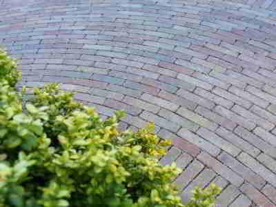 traditional brick paving